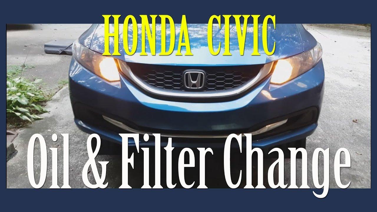2017 Honda Civic Lx 1 8l Oil Filter Change