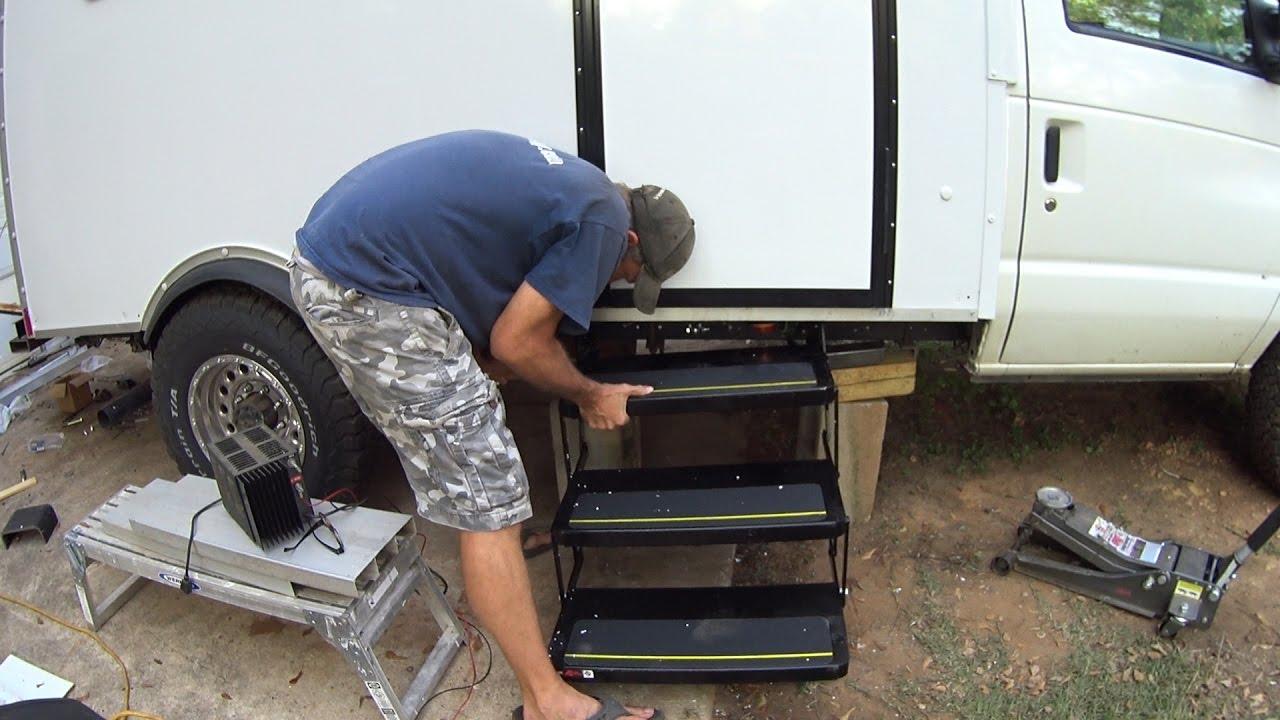 Box truck camper installing electric rv steps 60 doovi for Motorized rv entry steps