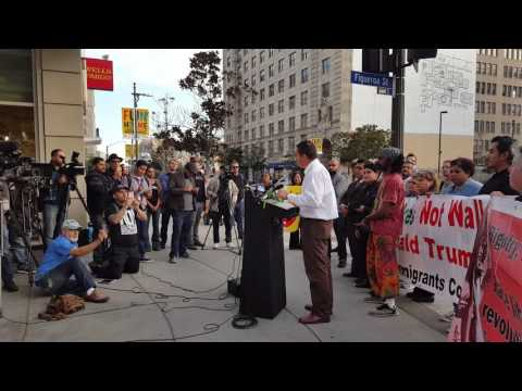 (HD) Union del Barrio  + Los Angeles Resistance Coalition PRESS CONFERENCE: 1/17/2017