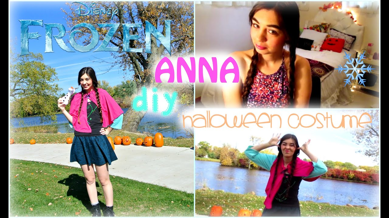 sc 1 st  YouTube & ?DIY Anna FROZEN Halloween Costume!? - YouTube