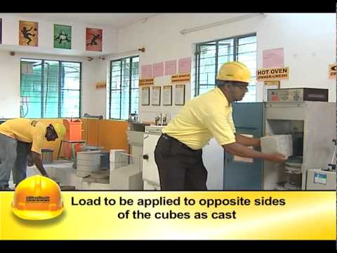 TEST FOR COMPRESSIVE STRENGTH OF CONCRETE - CUBE TESTING
