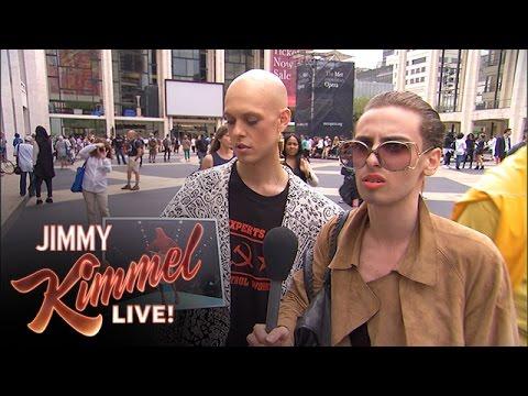 Jimmy Kimmel new york fashion week