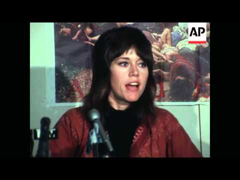 USA - Fonda Hayden News Conference on Hanoi bombings