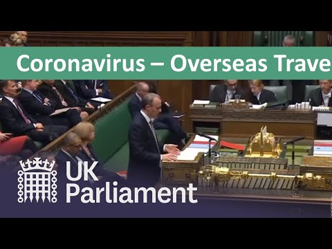 Coronavirus: Foreign Secretary gives update on travel advice - 17 March 2020