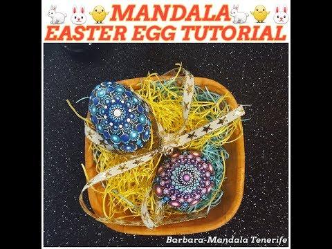 #19 Mandala Easter Egg Tutorial with Barbara-Mandala Tenerife!!🤗🐇🐰😍😘 thumbnail