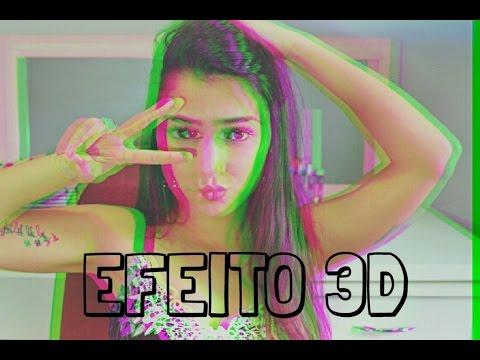 Como fazer EFEITO 3D em fotos   Super fácil