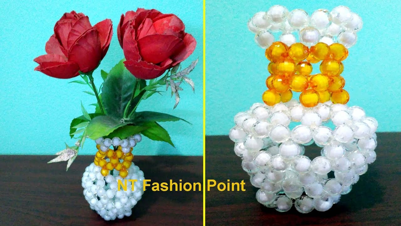 How to make flower pot how to learn flower vase easy way how to make flower pot how to learn flower vase easy way flower pot with beads reviewsmspy