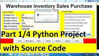 python projects for beginners with source code using Database | Python project | Python CRUD part 1