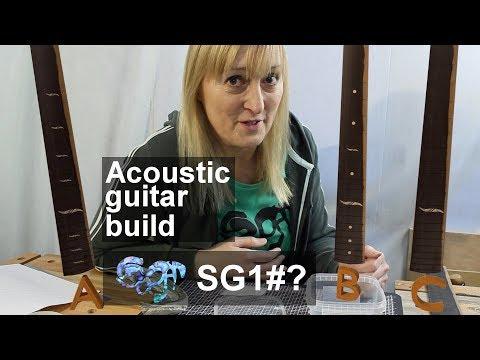 SuGar SG1 acoustic guitar build fretboard markers: You decide