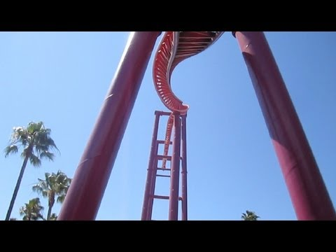 V2: Vertical Velocity front seat on-ride HD POV Six Flags Discovery Kingdom
