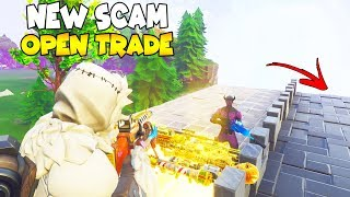 NEW SCAM INVISIBLE DEATH WALL! 😱 (Scammer Gets Scammed) Fortnite Save The World