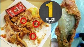 Must Watch!!Worms Founded In KFC Chicken Fried Food.