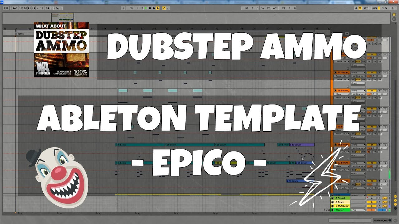 dubstep ammo ableton template 5 epico try free demo youtube. Black Bedroom Furniture Sets. Home Design Ideas