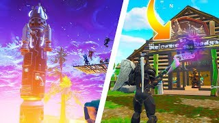 The Fortnite ROCKET LAUNCH Experience!! Best POVs, Hilarious Fails and NEW SECRET PORTAL!!