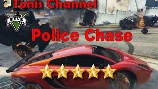 GTA V 5 Star Police Chase Part 2