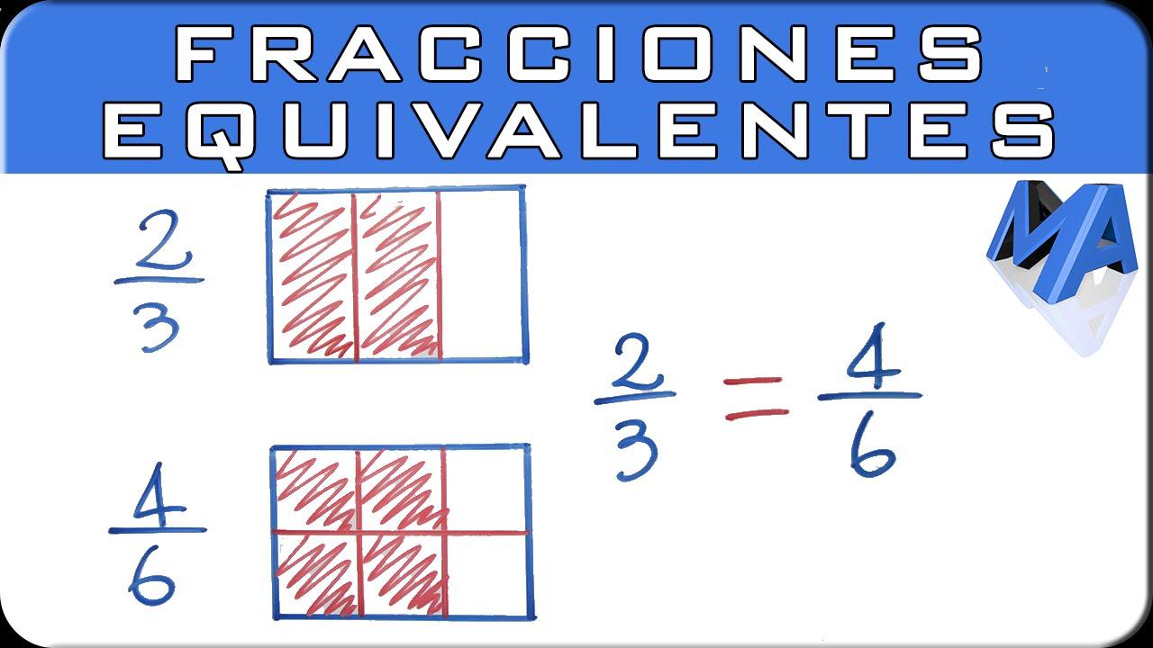Fracciones equivalentes | Explicación gráfica y numérica - YouTube