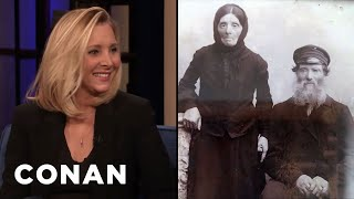 Lisa Kudrow's Great Great Great Grandparents Did Not Age Well - CONAN on TBS