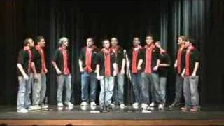 Marist College's only all-male a cappella group Time Check performs...