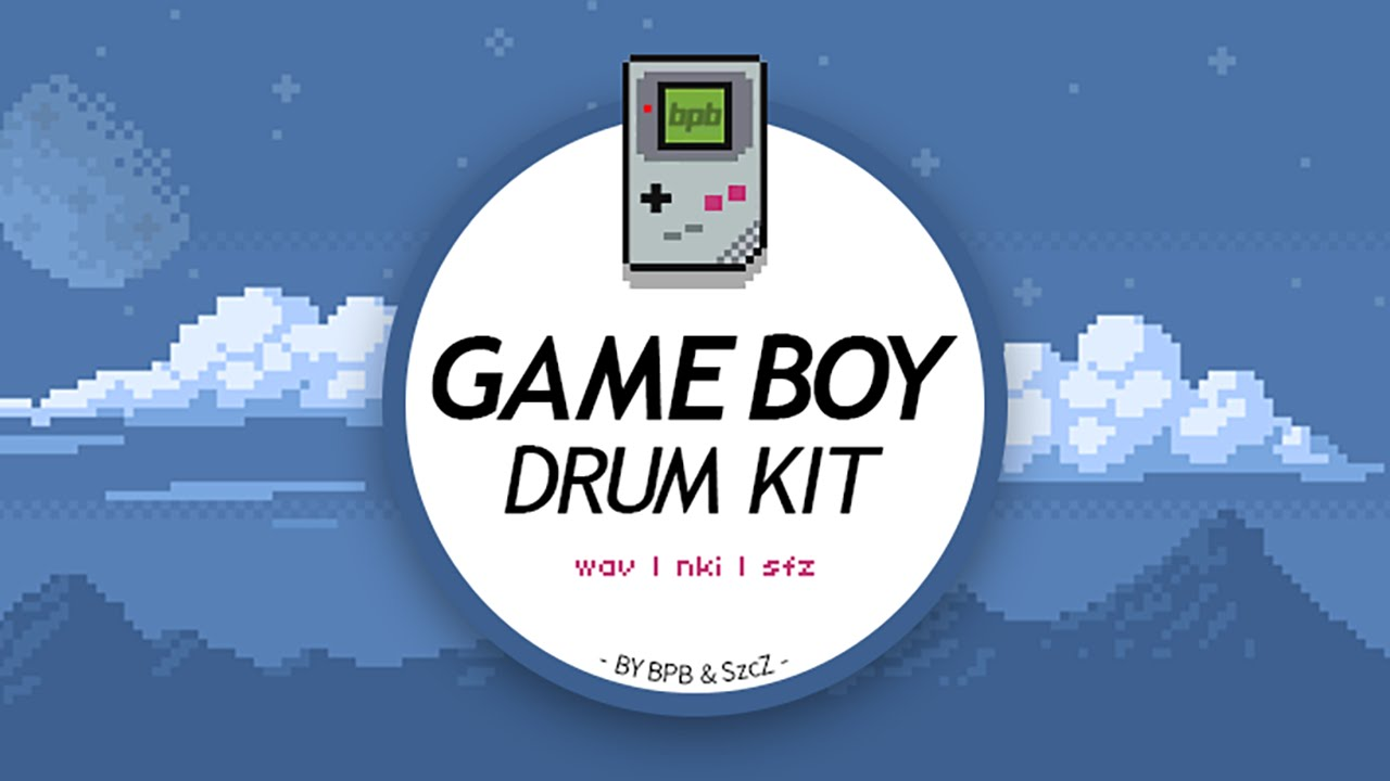 Download a free Nintendo Game Boy drum kit sample pack