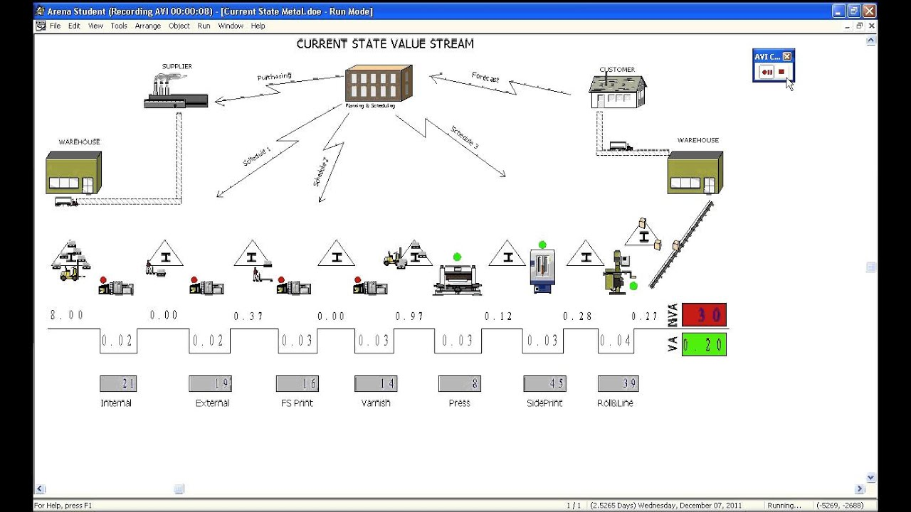 value stream mapping simulated youtube