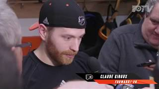 Hear from Claude Giroux following loss to the Golden Knights
