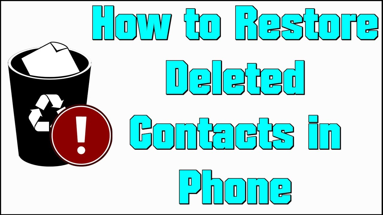 How to Restore Deleted Contacts on Android   Use Restore Contacts App