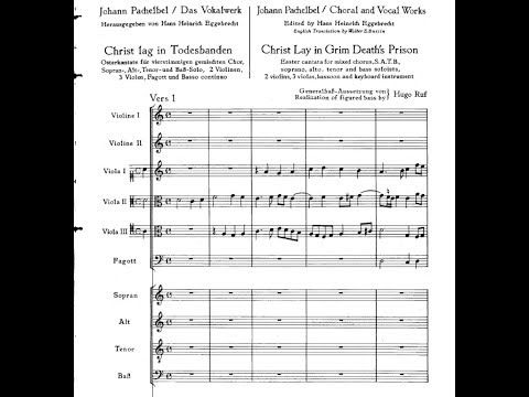 Johann Pachelbel: Easter Cantata,