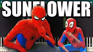 Sunflower Piano Tutorial Post Malone and Swae Lee Spider-Man Into the Spider-Verse.mp3