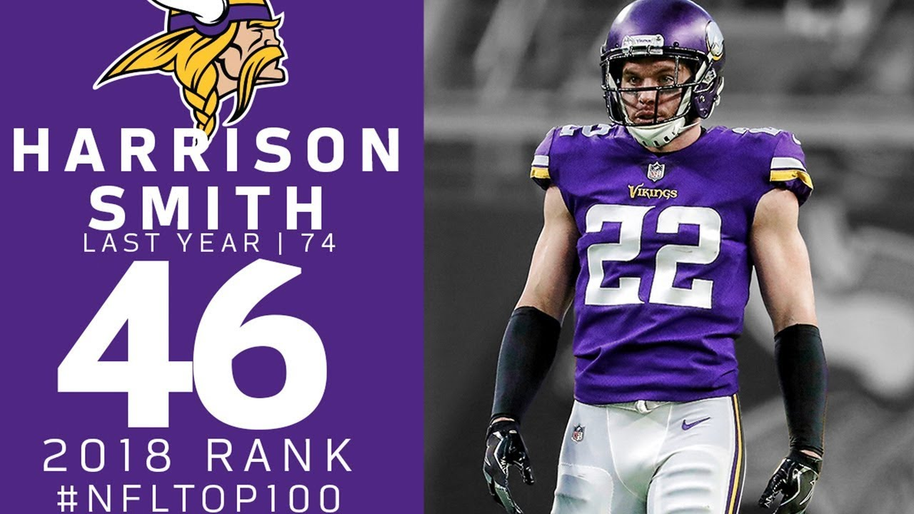 the latest aa9d3 ebde4 #46: Harrison Smith (S, Vikings) | Top 100 Players of 2018 | NFL