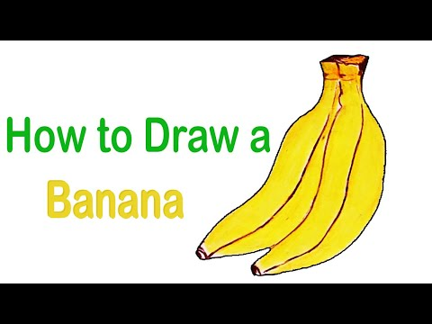How to draw a banana step by step (With coloring 2nd part) - 2021 ||Drawing Ideas|| Only Drawing