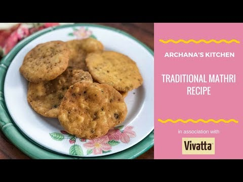 Traditional Mathri Recipe - Evening Snack Recipes By Archana's Kitchen