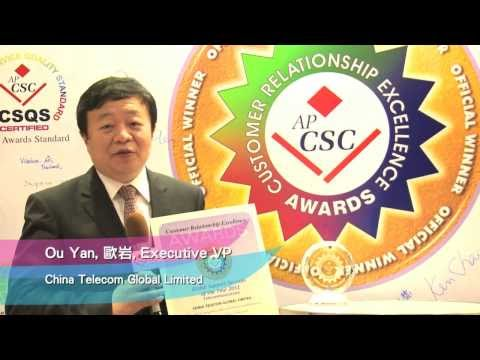 APCSC 2012 CRE Awards Winner (Global Support Service, Telecom) China Telecom Global Ltd (Full Ver.)