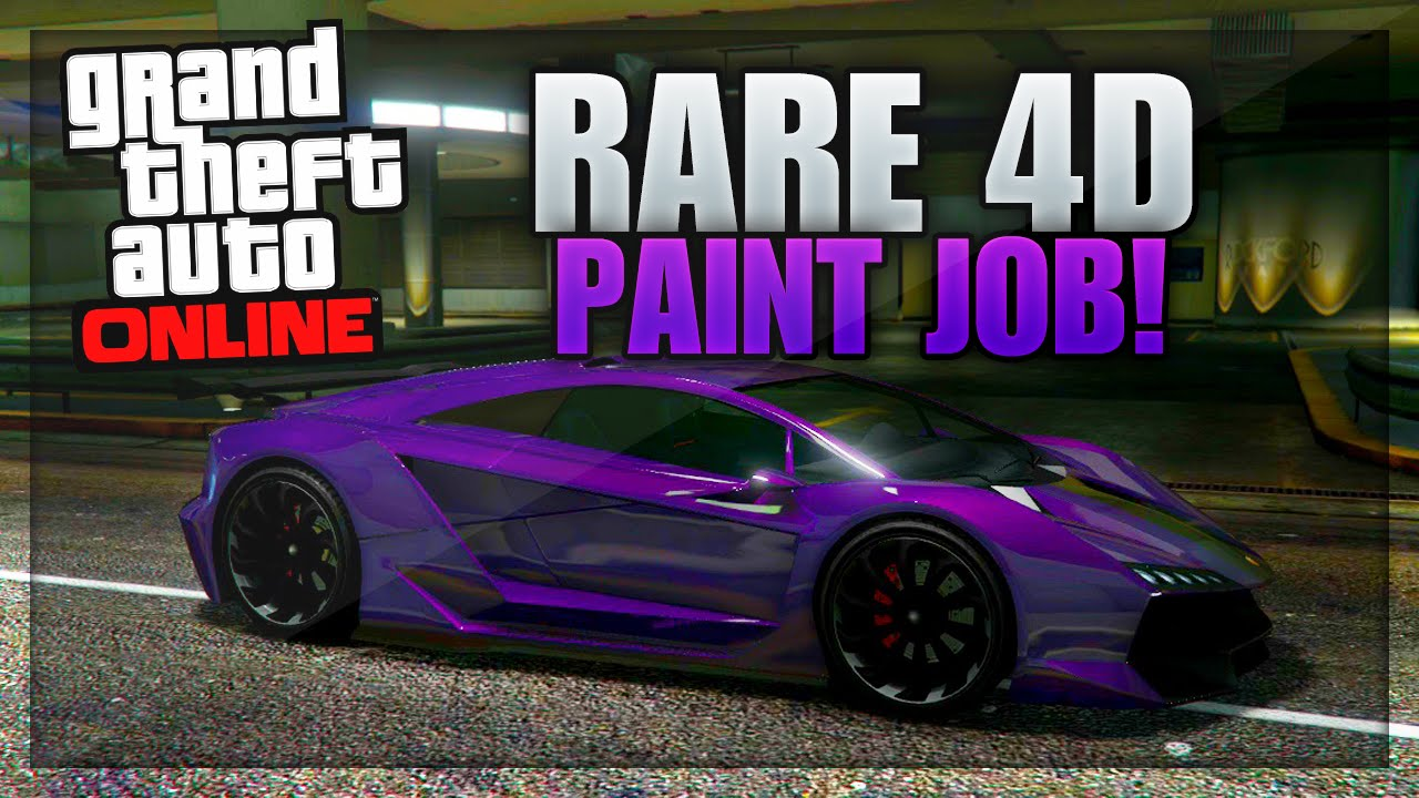 gta 5 paint jobs rare 4d paint job tutorial gta 5 4d violet trance
