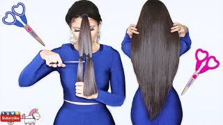 How to Cut Hair in Layers & V Shape 💇 Do it Yourself 🦄 Bessy Dressy