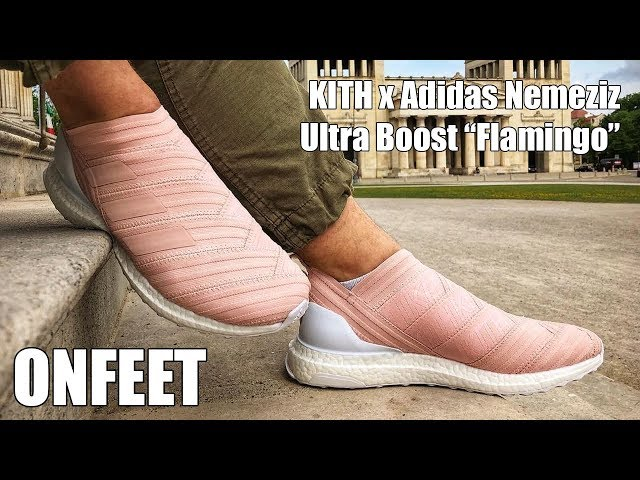 sale retailer 85ebd 277b0 KITH x Adidas Nemeziz 17.1 Ultra Boost  quot Flamingo quot  (AC7508) Onfeet  Review   sneakers.by - YoutubeDownload.pro