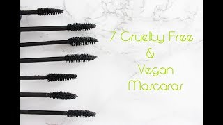 TRYING 7 VEGAN MASCARAS! WHICH ONE IS THE BEST?!