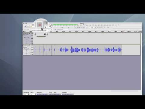 First-Time Recording in Audacity