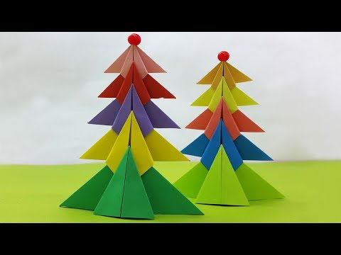 How to Make a 3D Paper Xmas Tree DIY Tutorial-Very Easy and Beautiful Christmas Tree-Easy Paper Tree
