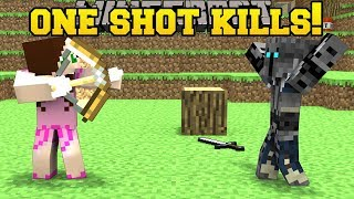 Minecraft ONE SHOT KILLS YOU WHO WILL SURVIVE Mini-Game