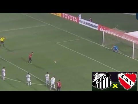 VANDERLEI PEGA PÊNALT Santos x Independiente libertadores SALVA O SANTOS - LSNADA -