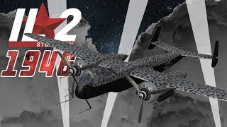 Full IL-2 1946 mission: He-219 hunting Lancasters and Halifaxes
