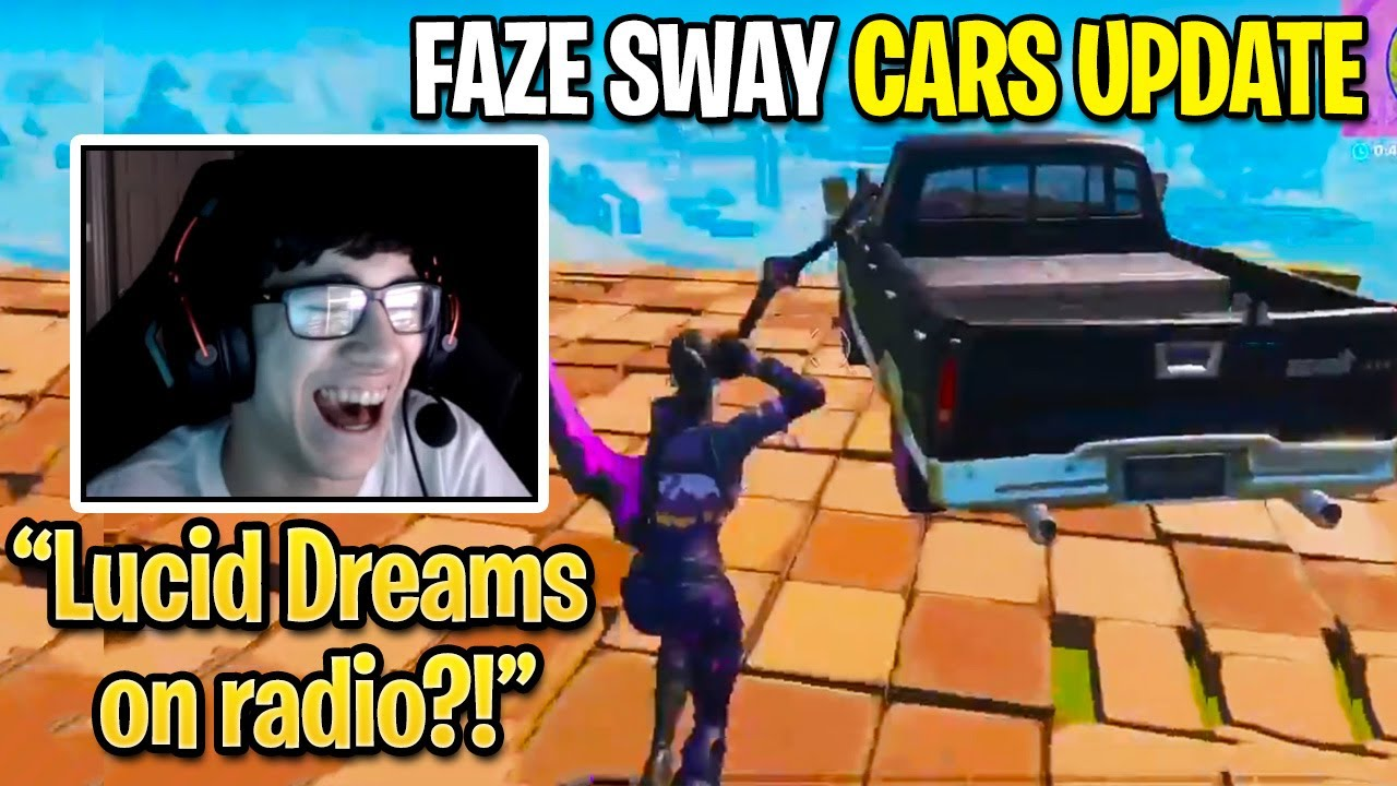 FaZe Sway SINGS New CARS Radio Songs While Destroying Everyone With Ease (Fortnite Update)