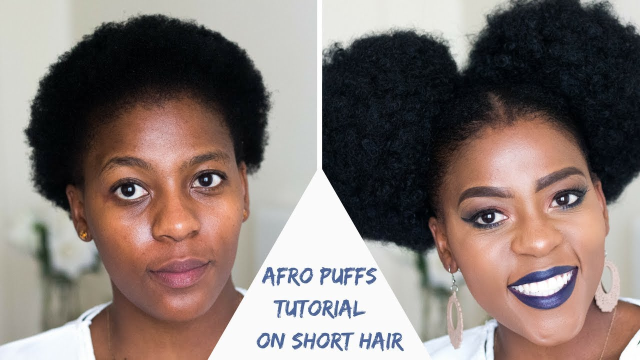 how to | two afro puffs on short natural hair | south african hair blogger| #powerpuffs