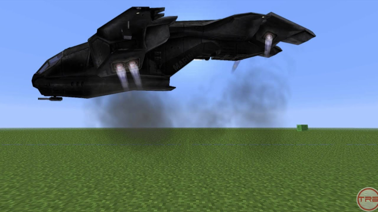 Minecraft Meets Halo Quick Greenscreen Test YouTube