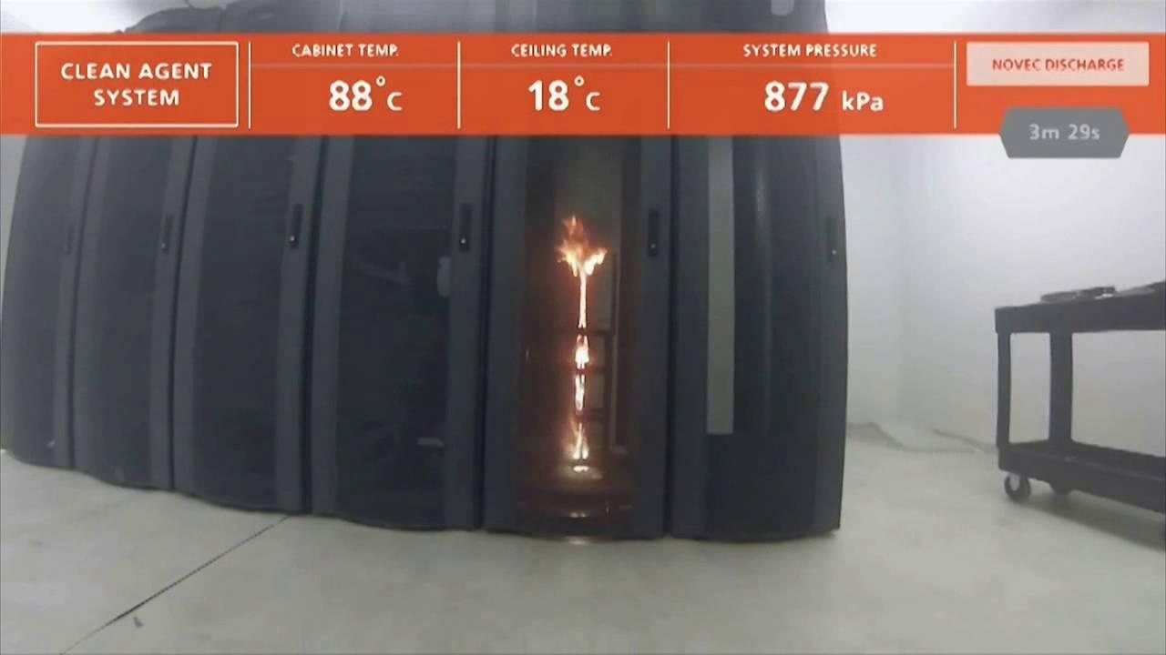 Газовое пожаротушение серверной