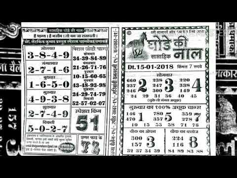 Kalyan Matka Ghode Ki Naal घ ड क न ल च र ट Weekly