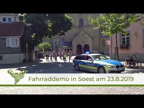 Fahrraddemo in Soest am 23.08.2019 von Fridays For Future