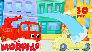 Fire Truck Morphle! Puts Out The Fire - My Magic Pet Morphle | Cartoons For Kids | Morphle TV