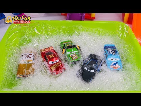 Thumbnail: Learning Color Special Disney Pixar Cars Lightning McQueen Mack Truck Bubble Play for kids car toys