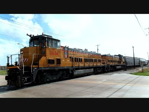 Union Pacific Ultra Low Diesel Emission Switchers In Action